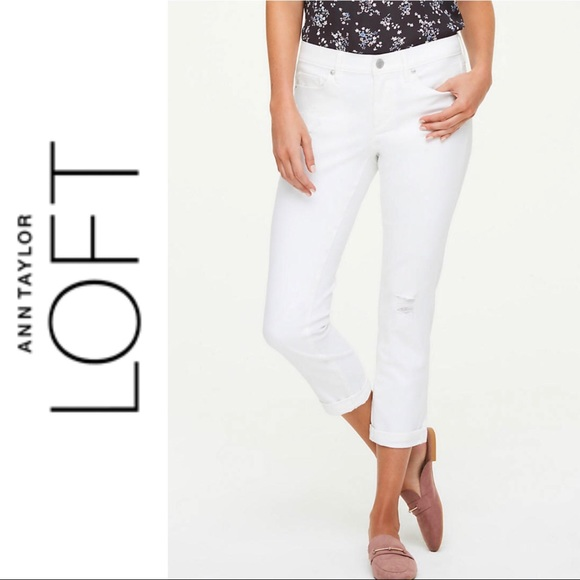 Ann Taylor LOFT Skinny Crop Jeans Pants in White Various Sizes NWT